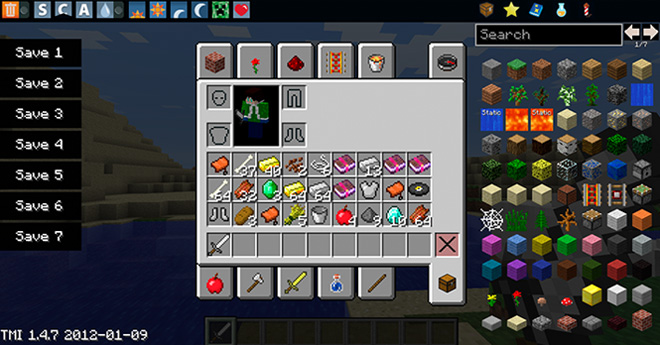 Too Many Items Mod para Minecraft 1.6.2 y 1.6.4