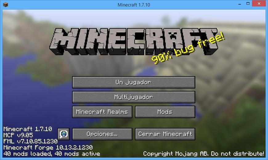 Como instalar mods en Minecraft 1.7.10