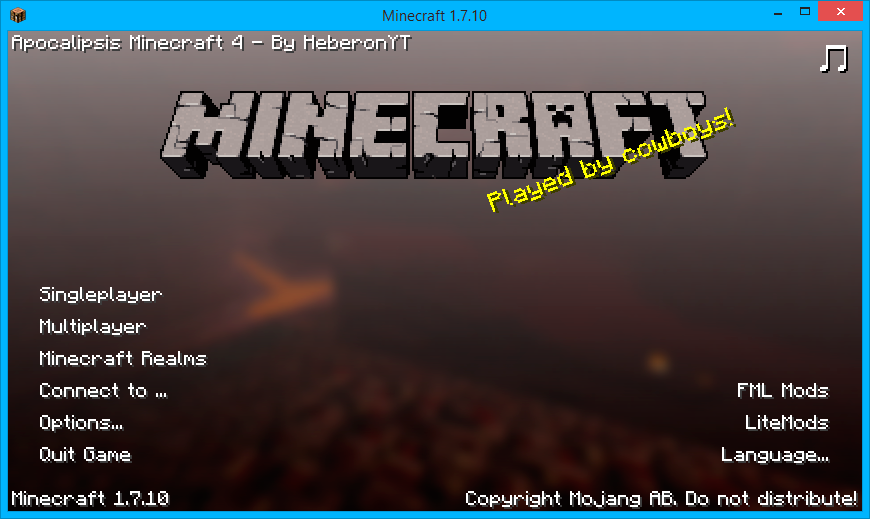 Apocalipsis Minecraft 4 Modpack
